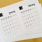 【無料配布】2018年シンプルな月曜始まりの月間カレンダー 印刷用を配布中